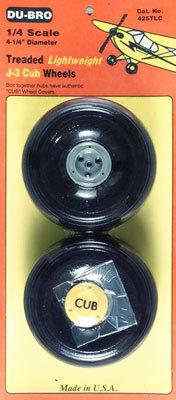 DUBRO 425TLC 1/4 SCALE CUB WHEELS (PAIR)