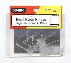 DUBRO 118 SMALL NYLON HINGES (7 PKT)