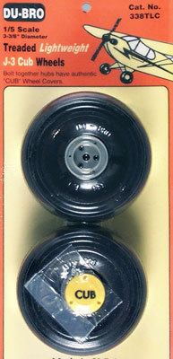 DUBRO 338TLC 1/5 SCALE CUB WHEELS (PAIR)