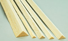 12MM X 12MM X TRIANGULAR BALSA STRIP