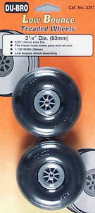 DUBRO 325T TREADED WHEELS 3 1/4""