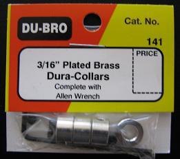 "DUBRO 141 DURA COLLARS 3/16"" (4 PKT)"