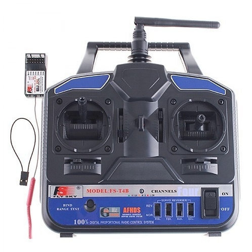 FLYSKY T4B 4 CHANNEL 2.4GHZ RADIO AND RECEIVER