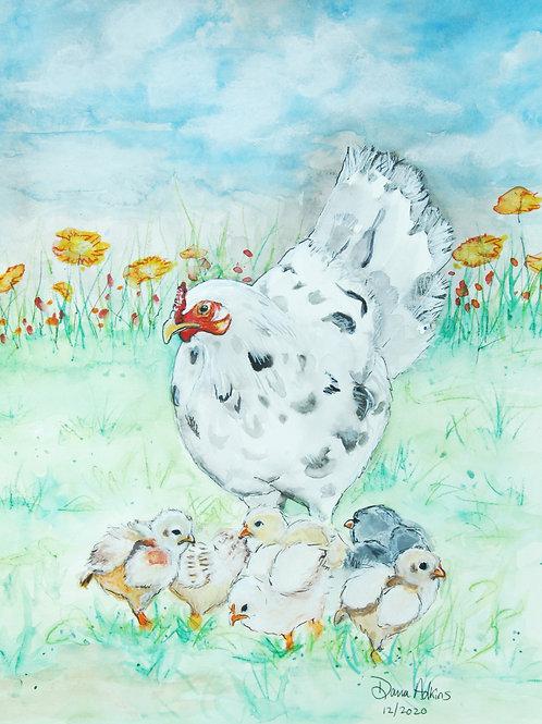 Mama Hen & Chicks
