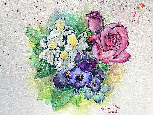 Roses, Violets, Honeysuckle
