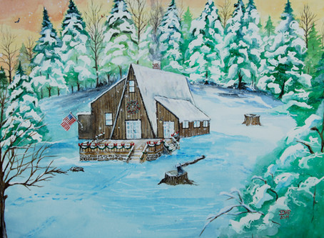 Winter themed watercolor