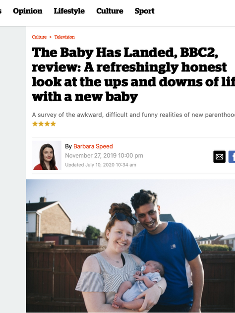 THE BABY HAS LANDED Premieres on BBC Two to Excellent Reviews