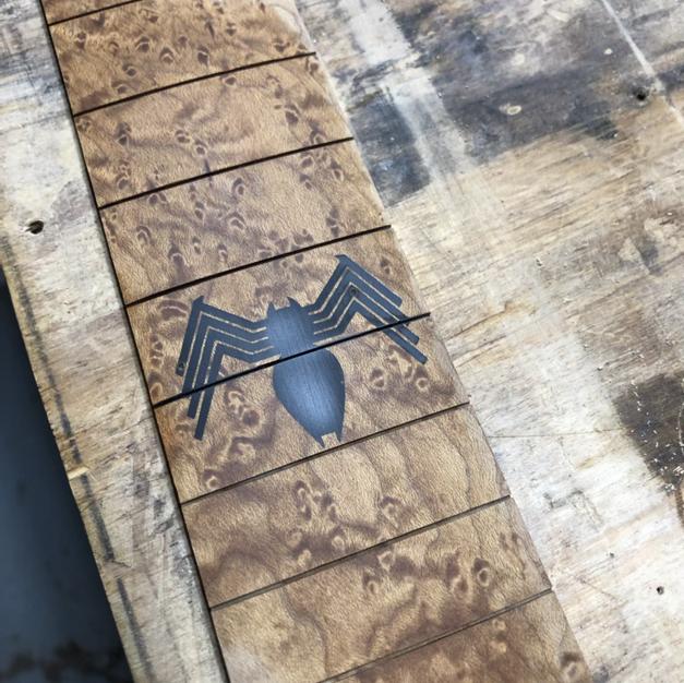Spider man inlay