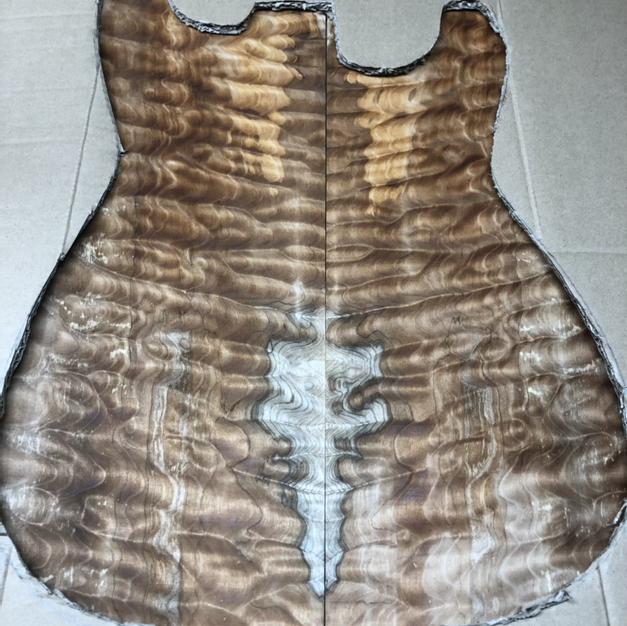 """""""Sinker"""" quilted maple with spalting"""