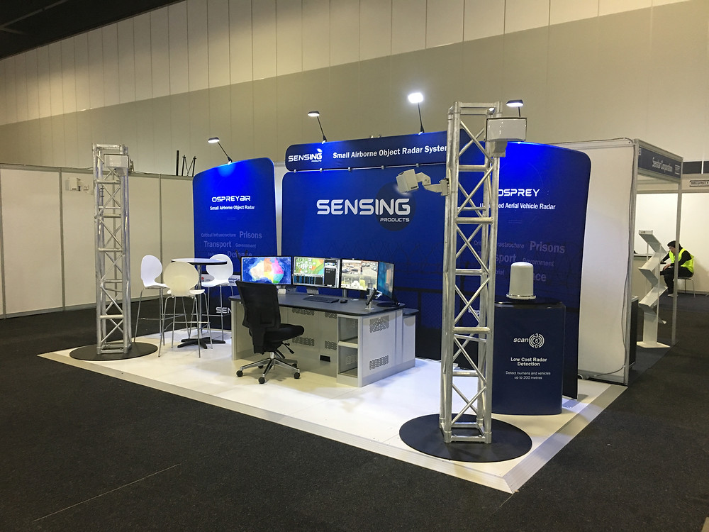 Sensing Products stand up and ready for the show