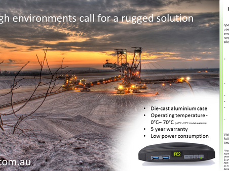 A rugged PC for a rugged environment.