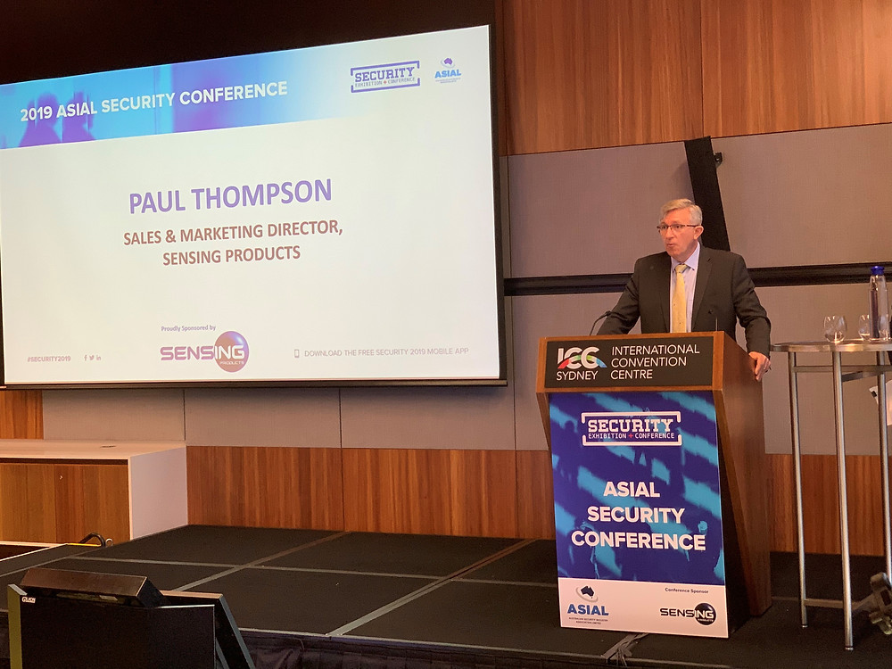 Paul Thompson addressing the delegates at the 2019 ASIAL Secuirty Conference.