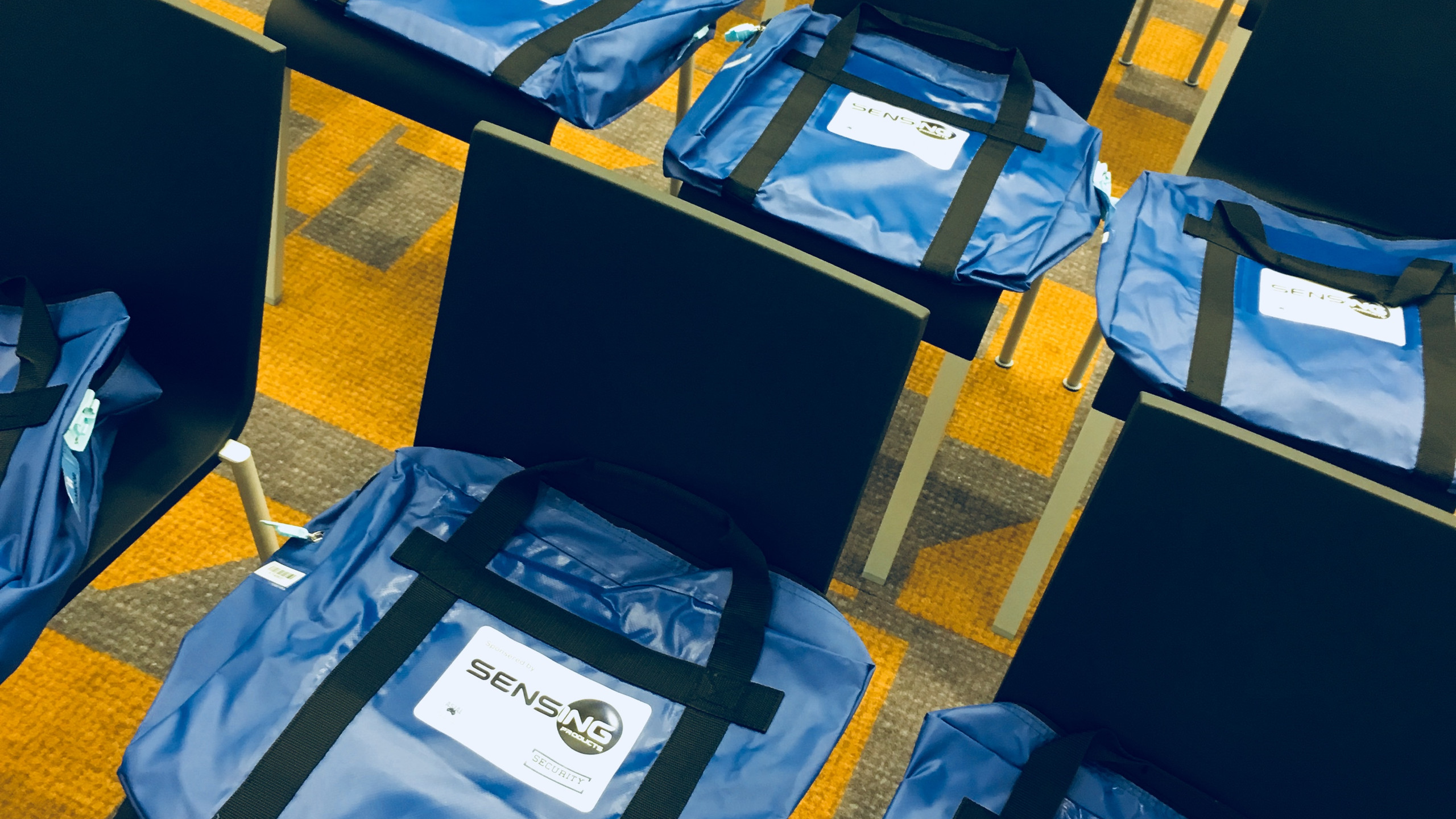 Conference Bags on seats