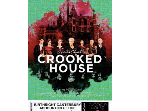 ASHBURTON MOVIE FUNDRAISER - CROOKED HOUSE