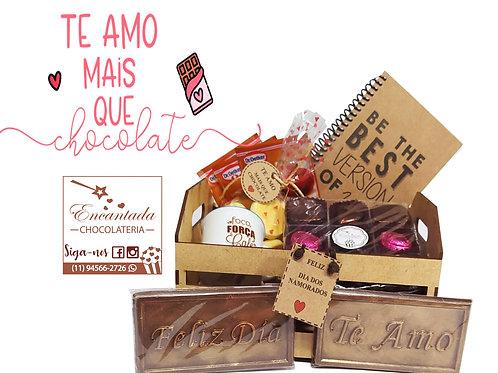 Cesta Caixotinho Madeira (Mdf)::  +caderneta+ Minicaneca +chás...