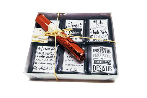 Brownies Frases Positivas - Masculino +1charuto
