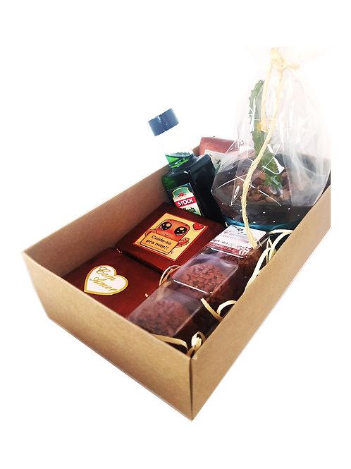Kit Carinho:: 3 brownies +1vasinho suculenta +1mini bebida....