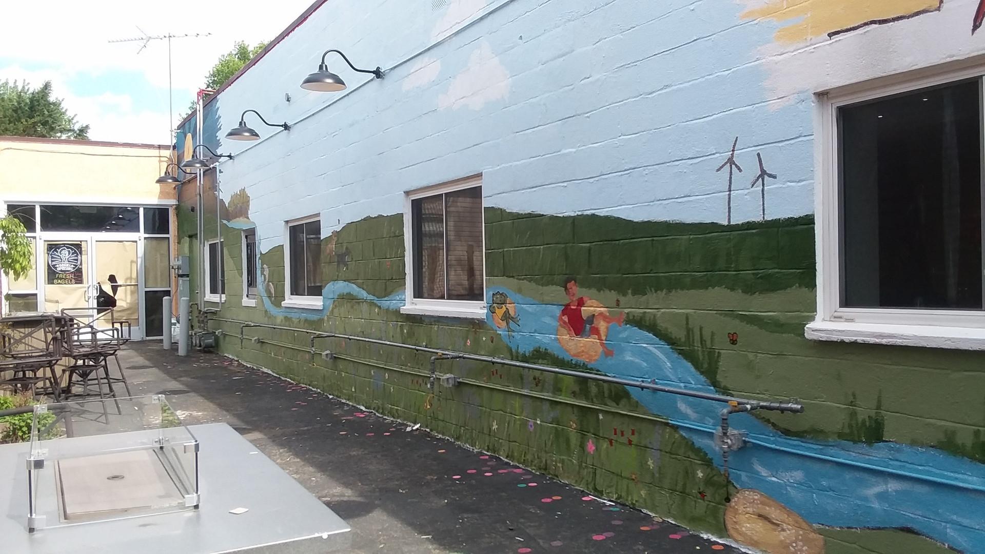 Bagel Uprising Mural