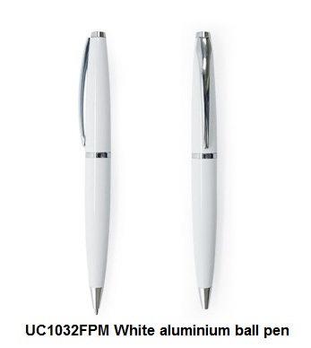 UC1032FPM White aluminium ball pen