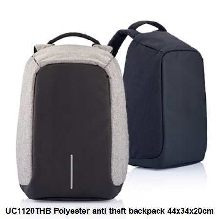 UC1120THB Polyester anti theft backpack 44x34x20cm