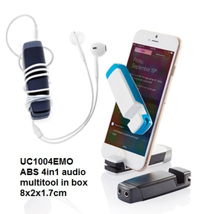 UC1004EMO ABS 4in1 audio multitool in box 8x2x1.7cm