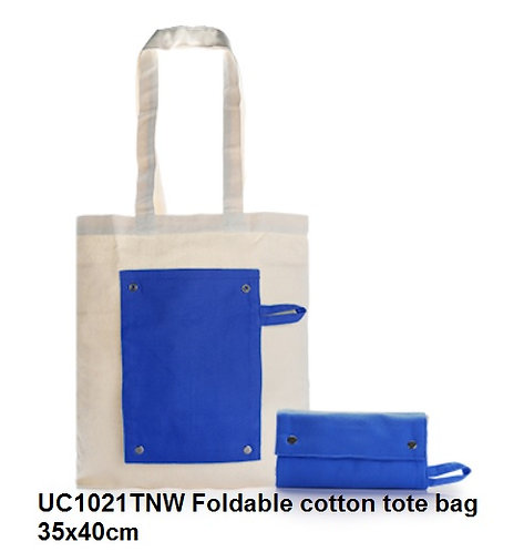 UC1021TNW Foldable cotton tote bag 35x40cm