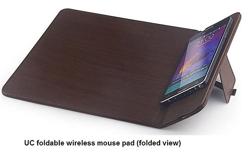 UC foldable wireless moused pad 29.8x21x0.5cm folded view