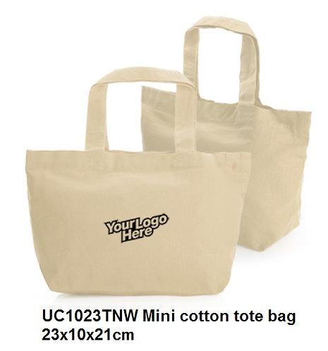 UC1023TNW Mini cotton tote bag 23x10x21cm