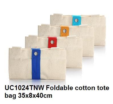 UC1024TNW Foldable cotton tota bag 35x8x40cm