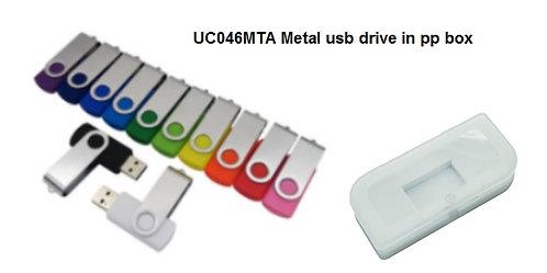 UC046MTA Metal usb drive in pp box