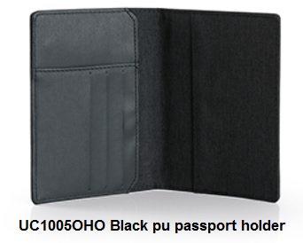 UC1005OHO Black pu passport holder