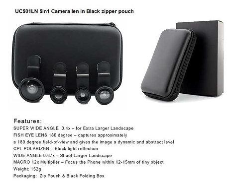 UC501LN 5in1 camera len with black zipper pouch