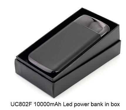 UC802F 10000mAh Led power bUC802F 10000mAh Led power bank in boxank in box