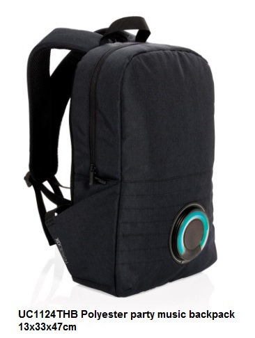 UC1124THB Polyester party music backpack 13x33x47cm