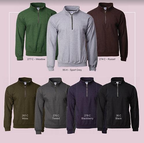 18800 Fleece knit 1_4 brass zipper hoodie