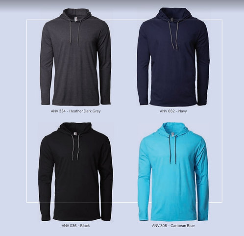 987 100% combed ring spun cotton light weight hoodie