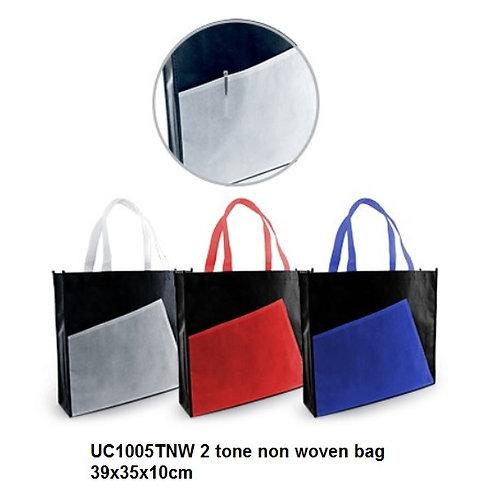 UC1005TNW 2 tone non woven bag 39x35x10cm