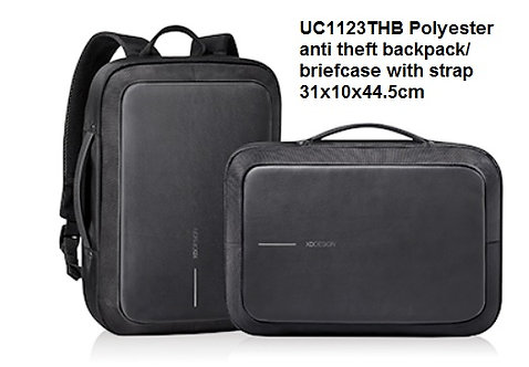 UC1123THB Polyester anti theft backpack_briefcase with strap 31x10x44.5cm