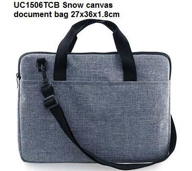 UC1506TCB Snow canvas document bag 27x36x1.8cm