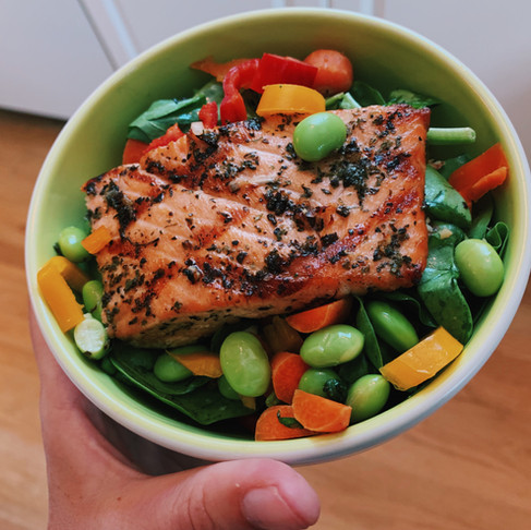 Grilled Salmon Power Bowl