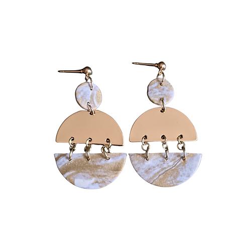 Full Moon Drop earrings