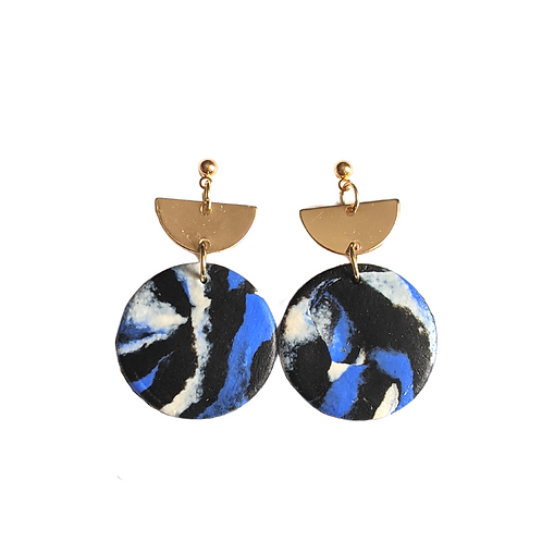 Half-Moon Drop Earrings