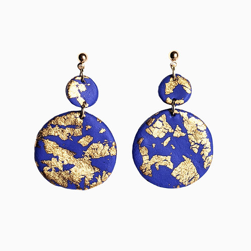 Gold Earth Drop Earrings