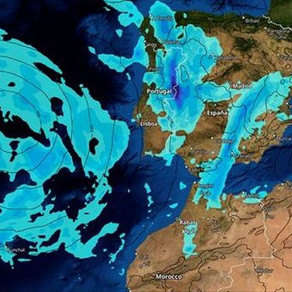 A great Atlantic storm loaded with rain will hit the peninsula and the Canary Islands this Friday