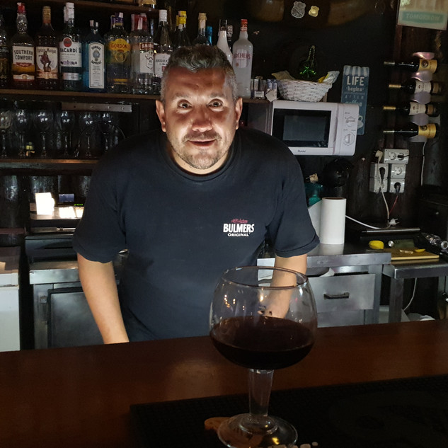 Our favourite bar man!