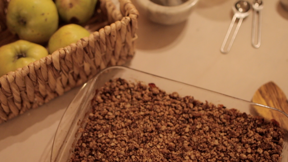 Apple and Cranberry Crumble