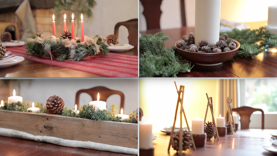 Zero Waste Christmas Table Centrepiece Ideas
