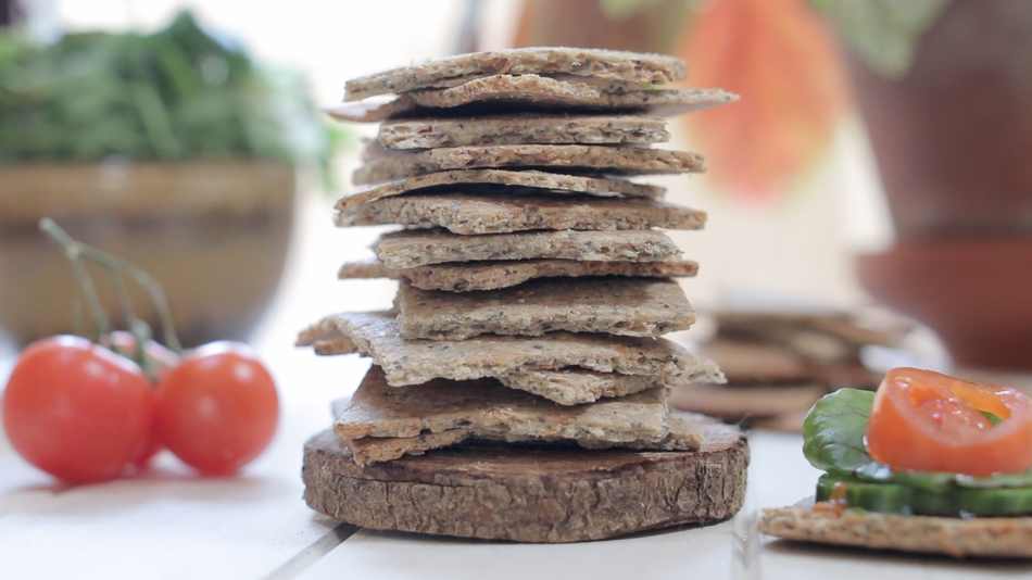 Grain Free Seeded Crackers