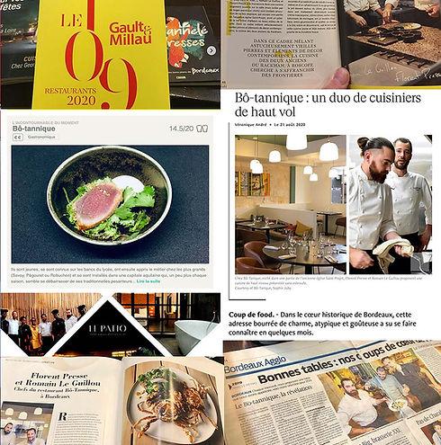 Bo-tannique - restaurant - revue de presse