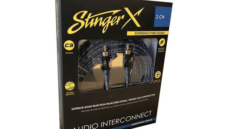 Stinger X1 SERIES 2 CHANNEL INTERCONNECT 17FT